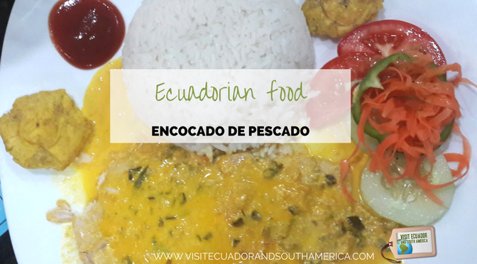 Ecuadorian food: encocado de pescado