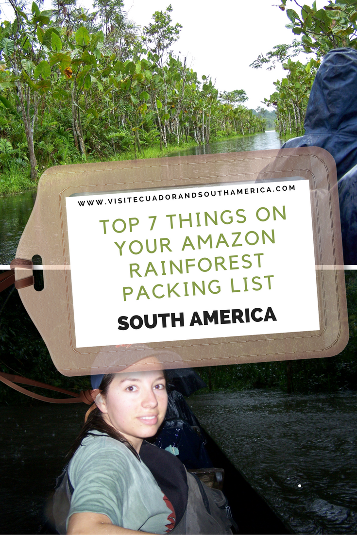 amazon rainforest packing list