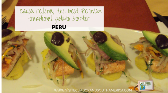 Causa rellena, the best Peruvian traditional potato starter