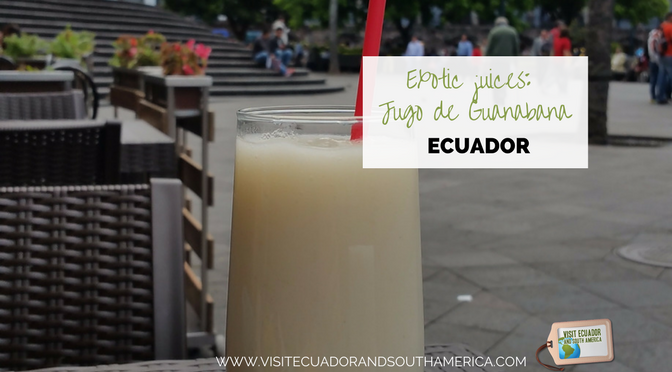 Exotic juices from Ecuador: Jugo de guanabana