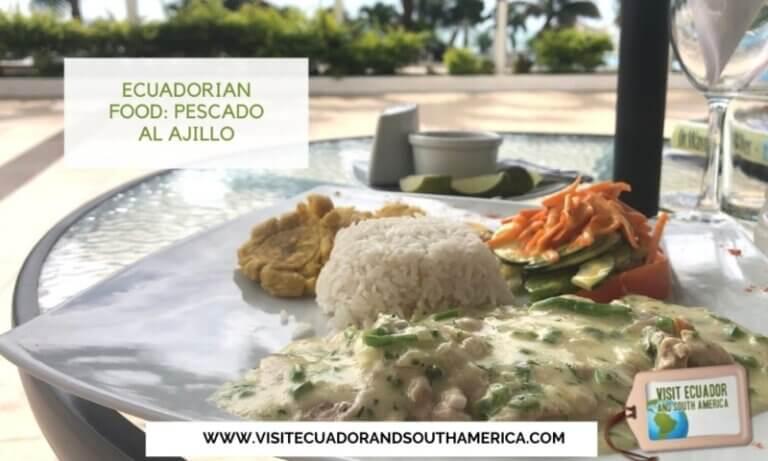 Ecuadorian food Pescado al Ajillo or Fish in Garlic Sauce (2)